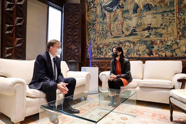 Primera reunión de Ximo Puig y Ruth Merino en el Palau de la Generalitat