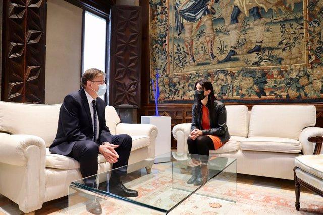 Primera reunió de Ximo Puig i Ruth Merino en el Palau de la Generalitat