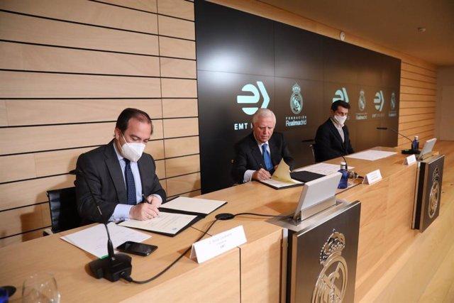 La EMT prorroga su acuerdo con la Fundación Real Madrid en favor de colectivos desfavorecidos