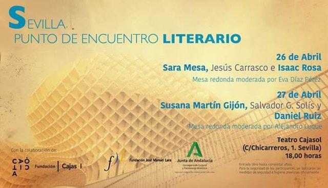 Seis novelistas se dan cita el 26 y 27 de abril en las jornadas 'Sevilla: Punto de encuentro literario'
