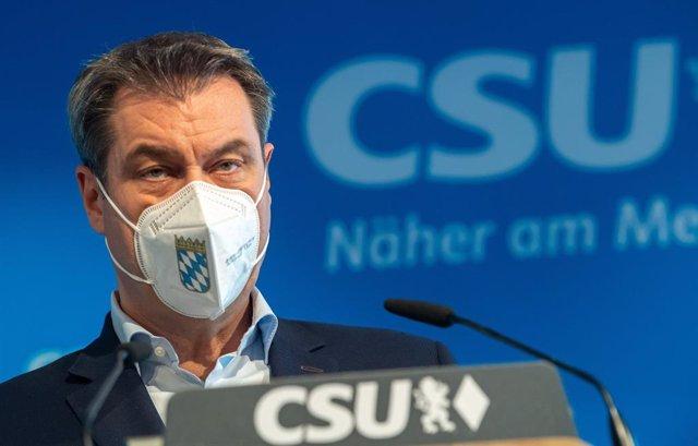 Markus Soeder, líder de la CSU