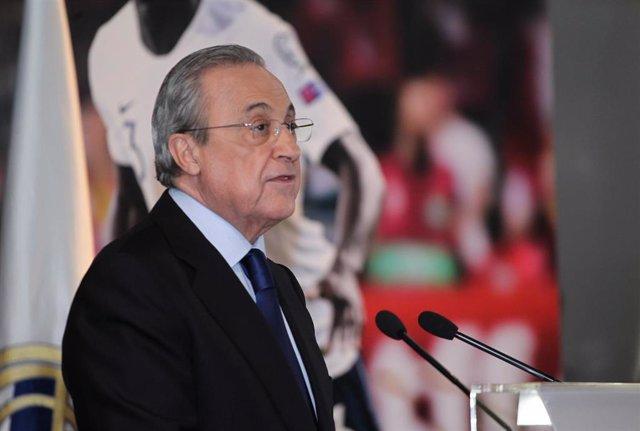 Archivo - Florentino Pérez, presidente del Real Madrid.