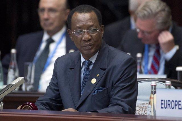 Archivo - Arxiu - El president del Txad, Idriss Déby.