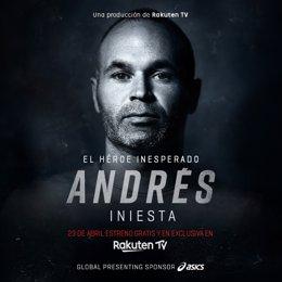 Archivo - Cartel del documental 'Andrés Iniesta, el héroe inesperado'