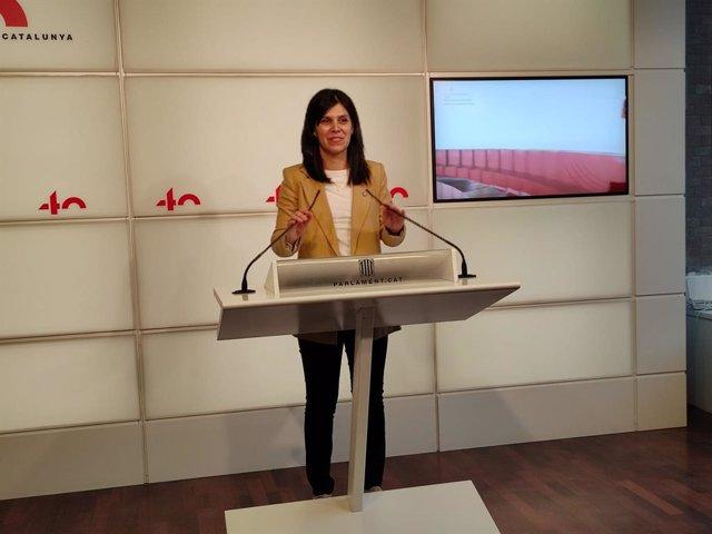 Arxiu - La portaveu d'ERC al Parlament, Marta Vilalta.