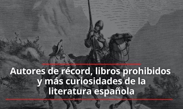 Portada del tema 'Autores de récord, libros prohibidos y más curiosidades de la literatura española'.