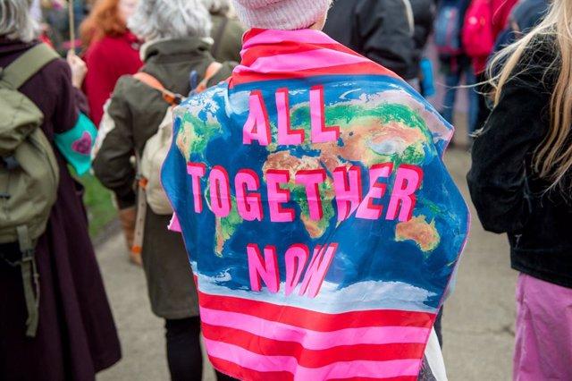 Archivo - Marcha contra el cambio climático en Londres en febrero de 2020
