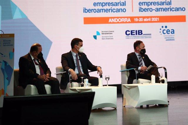 El presidentte del Gobierno, Pedro Sánchez, participa en el Encuentro Empresarial Iberoamericano