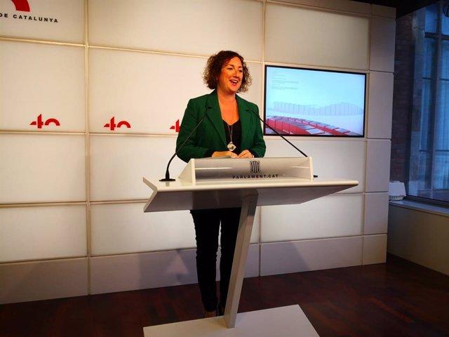 Arxiu - La portaveu del PSC-Units al Parlament, Alícia Romero.