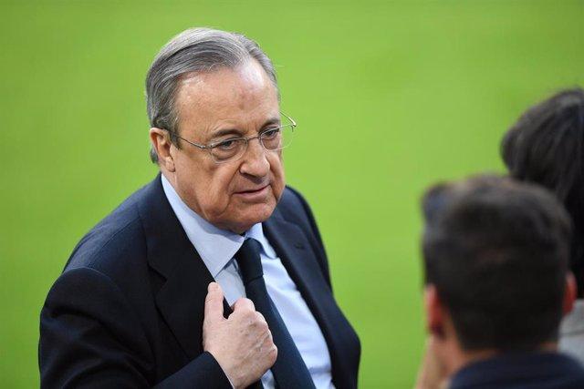 Archivo - El presidente del Real Madrid, Florentino Pérez, principal impulsor de la Superliga europea de fútbol.