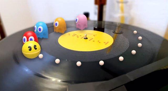 Los personajes de Pac-Man en realidad aumentada