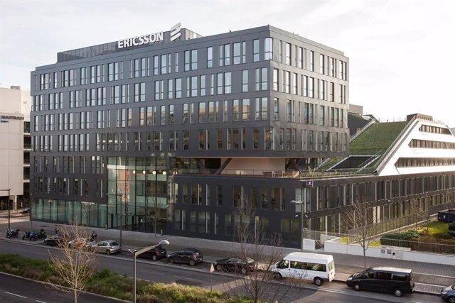 Archivo - Sede de Ericsson en Massy, en los alrededores de París (Francia)