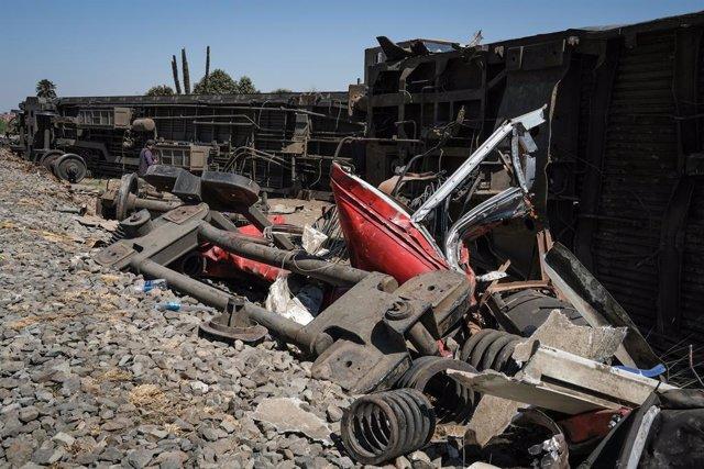 Accidente de tren en Sohag, en el centro de Egipto