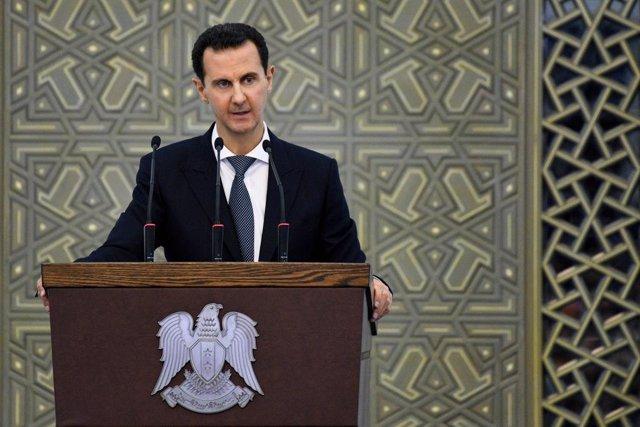 Archivo - Bashar al Assad