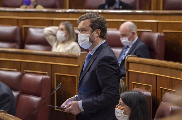Arxiu - El portaveu de Vox al Congrés, Iván Espinosa de los Monteros.