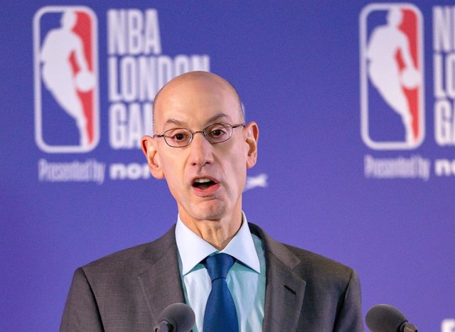 Archivo - Adam Silver, comisionado de la NBA