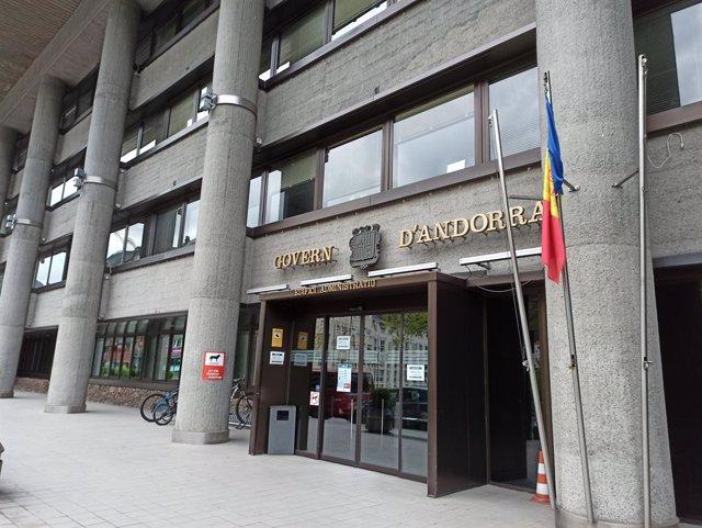 Arxiu - L'edifici administratiu del Govern d'Andorra, al carrer Prat de la Creu de la capital.