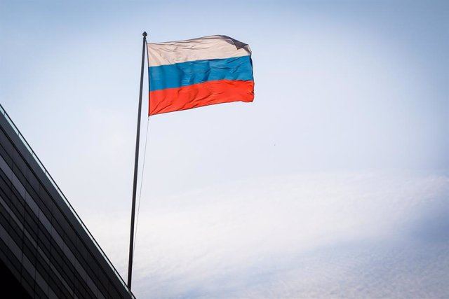 Archivo - Bandera de Rusia.