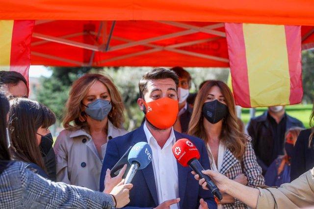 El 'número 3' de la candidatura de Ciudadanos a las elecciones de la Comunidad de Madrid, César Zafra.