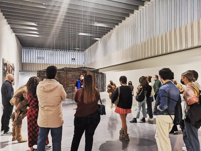 Visitantes en el Centre Pompidou