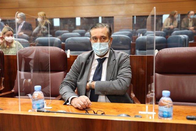 Archivo - El consejero de Justicia e Interior de la Comunidad de Madrid, Enrique López.