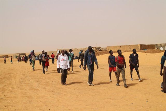Archivo - Migrantes ayudados por MSF en Assamaka, Agadez (Níger)