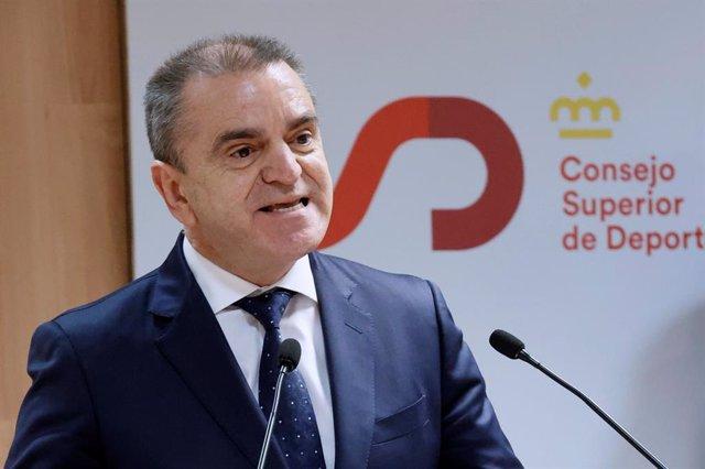 El presidente del CSD, José Manuel Franco