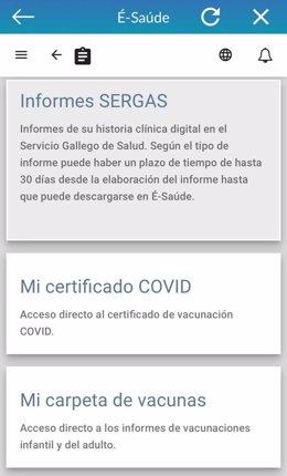 Galicia planteará al Consejo Interterritorial del Sistema Nacional de Salud que el certificado de vacunación covid-19 permita ser una excepción de movilidad