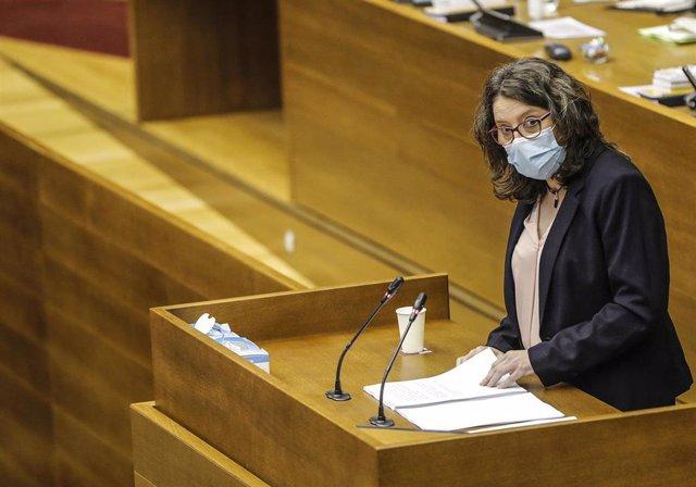 La vicepresidenta de la Generalitat y consellera de Igualdad, Mónica Oltra