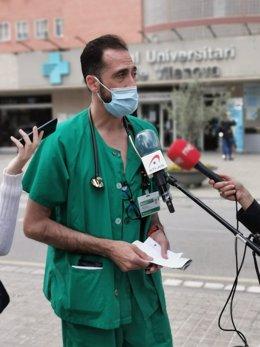 El coordinador de covid-19 a l'Hospital Universitari Arnau de Vilanova de Lleida, José Luis Morales.