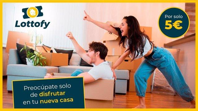Imagen publicitaria del lanzamiento de la plataforma de Lottofy
