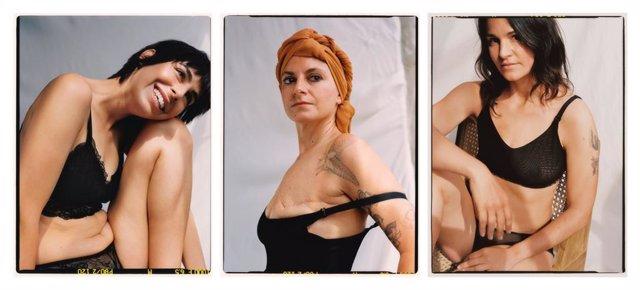 Mango crea la primera col·lecció de roba interior i de bany per a dones amb un sol pit.