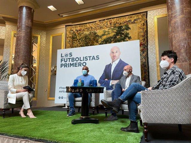 Archivo - El exjugador del Athletic Gaizka Toquero presenta su candidatura a la presidencia de AFE.