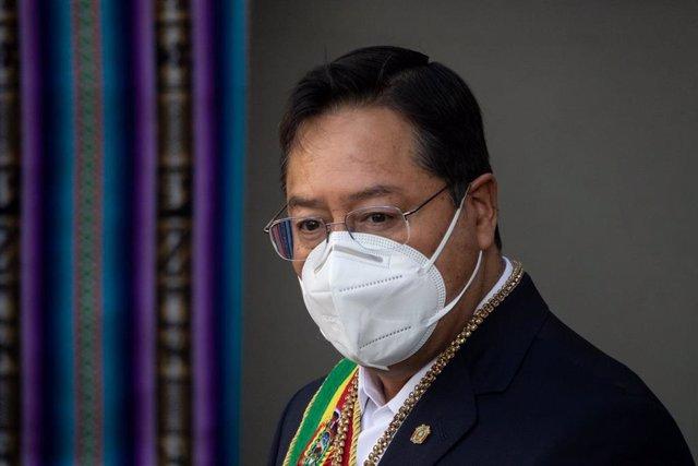 Archivo - El presidente de Bolivia, Luis Arce