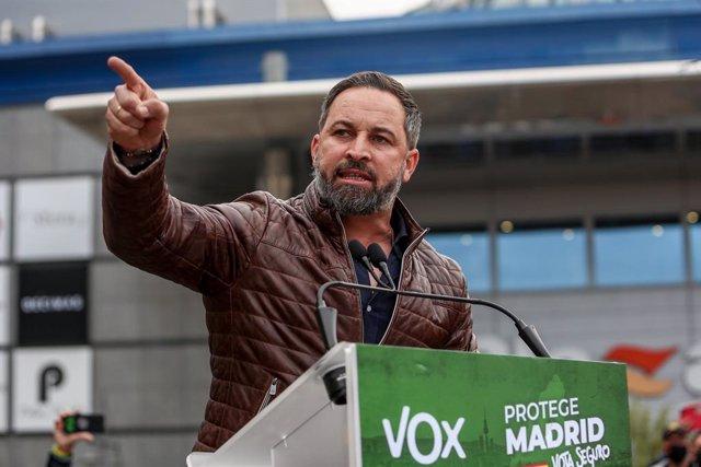 Arxiu - El líder de Vox, Santiago Abascal.