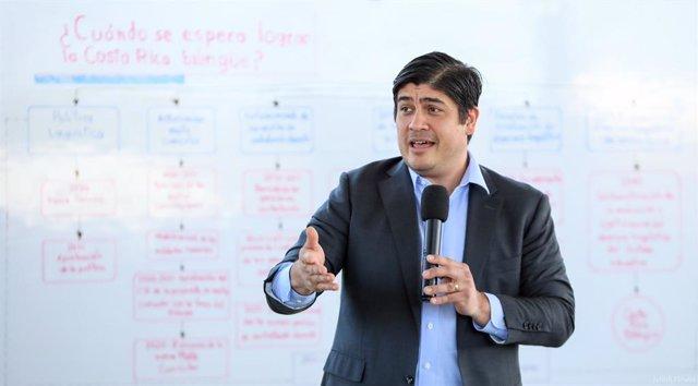 Archivo - El presidente de Costa Rica, Carlos Alvarado