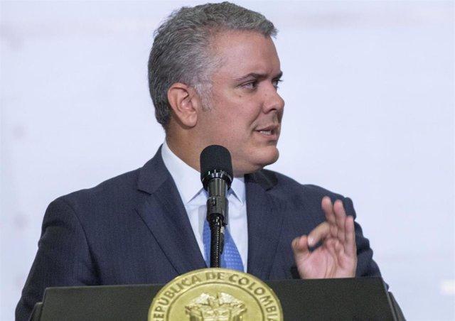 Archivo - El presidente de Colombia, Iván Duque