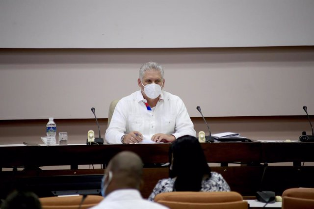 Miguel Díaz-Canel en el congreso del Partido Comunista de Cuba