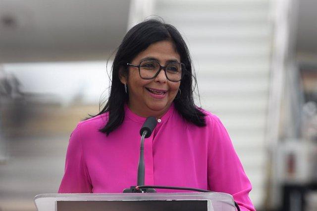 Archivo - Arxiu - Delcy Rodríguez, vicepresidenta de Veneçuela