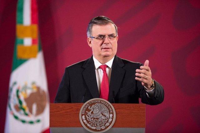 Archivo - Arxivo - El secretari de Relacions Exteriors de Mèxic, Marcelo Ebrard.