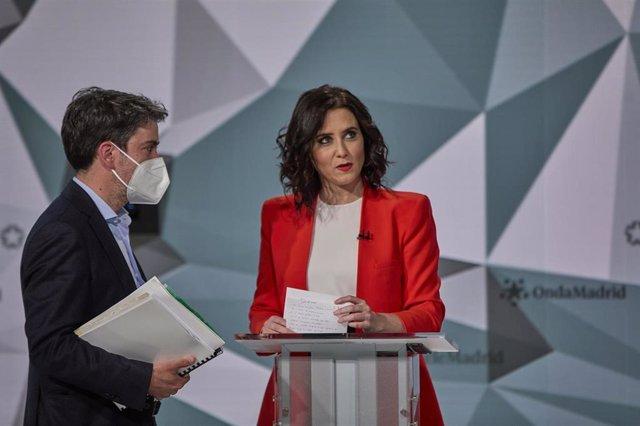 La candidata del PP a la Presidencia de la Comunidad de Madrid, Isabel Díaz Ayuso