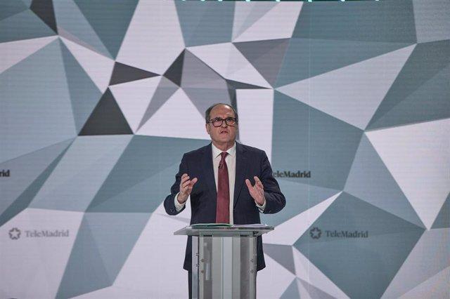 El candidato del PSOE a la Presidencia de la Comunidad de Madrid, Ángel Gabilondo
