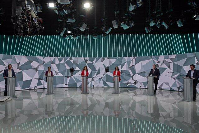 El primer debate y único debate a seis de todos los candidatos al 4M