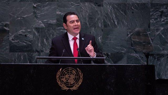Archivo - El presidente de Guatemala, Jimmy Morales.