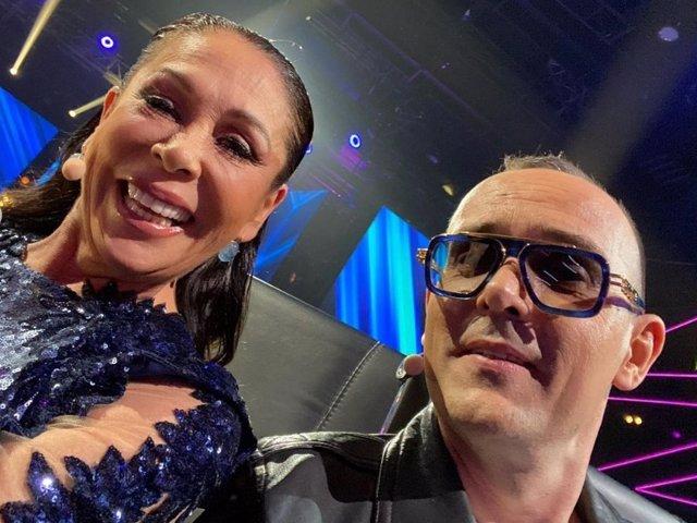 Risto Mejide ha compartido una imagen con Isabel Pantoja en la grabación de 'Top Star'