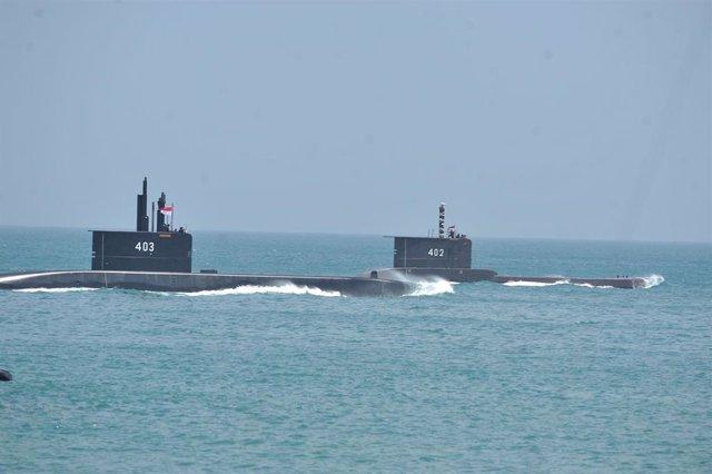Imagen de archivo de submarinos en Indonesia.