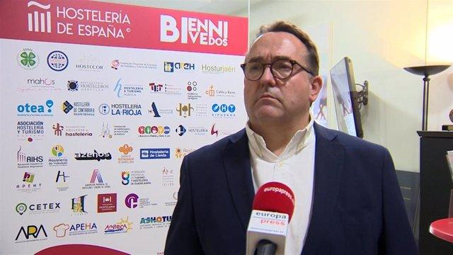 El presidente de Hostelería de España, José Luiz Yzuel