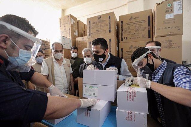 Llegada de vacunas a Siria gracias al mecanismo COVAX