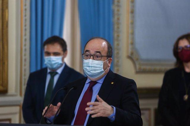 Archivo - Arxiu - El ministre de Política Territorial i Funció Pública, Miquel Iceta.