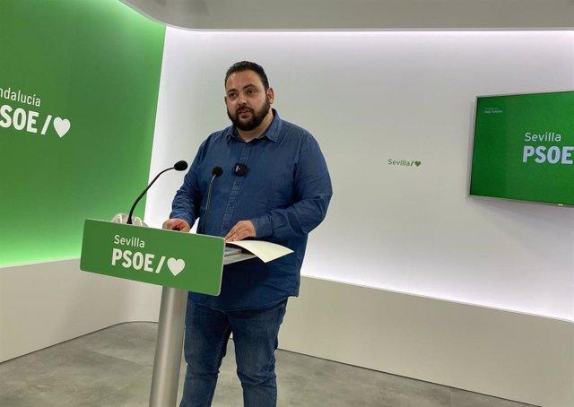 El secretario general de Juventudes Socialistas (JSA) de Sevilla, Guillermo Martínez